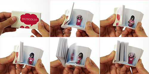 Flipping a flipbook.